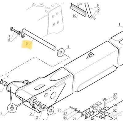 Картинка оси основания стрелы на погрузчик Manitou MLT-264561