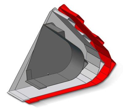 Ковш для сыпучих материалов на Маниту