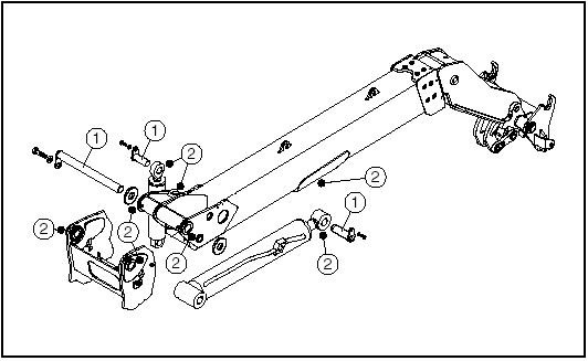 Снятие стрелы на погрузчиках Manitou
