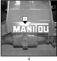 Демонтаж мостов на погрузчике Manitou